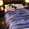 Beautiful Nordic Simple Plain Quilted Three-layer Blanket - CORNFLOWER BLUE