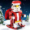 CaDA C51034W Santa Claus Sleigh Car Building Blocks - ROSSO RED