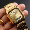 SKMEI Men Fashion Casual Quartz Digital Dual Time Sports Watch - GOLD