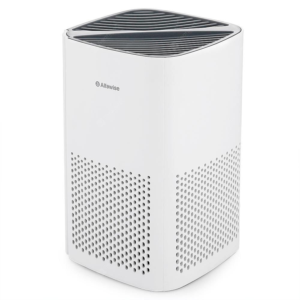 Alfawise P1 HEPA Mini Desktop Air Purifier - WHITE AIR PURIFIER