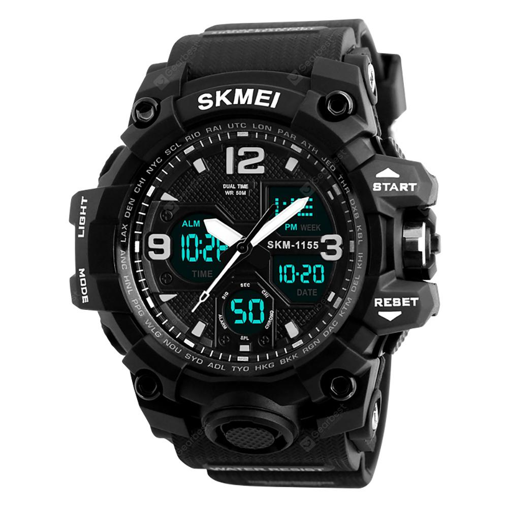 SKMEI Men Sport Digital Watch with Chronograph Double Time Alarm Light