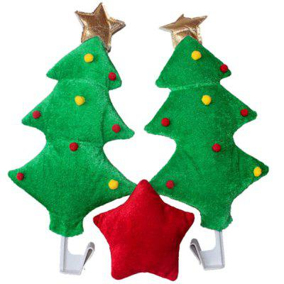 Fashionable Cute Red Star Green Tree Style Funny Christmas Decoration