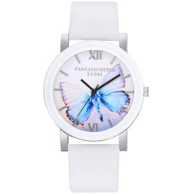 Lvpai P672 Candy Color Belt Big Butterfly Mirror Casual Wrist Watch