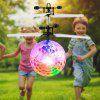 Color Induction Flying Ball Toy - WHITE