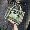 2270 Korean Version of The Mother Package Transparent Ladies Jelly Multicolor Handbag - CYAN OPAQUE
