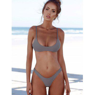 Beauty Sexy Split Double-sided Solid Color Bikini