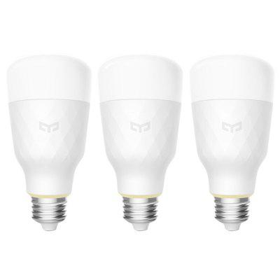 Gearbest Yeelight YLDP05YL Smart LED Bulb Dimmable AC 100 - 240V 10W 3PCS ( Xiaomi Ecosystem Product )