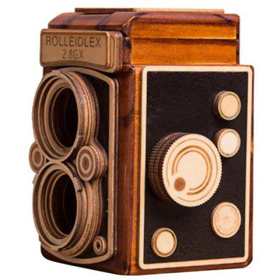 Drewniane SLR Retro Camera Pen Holder Music Box Walentynki Prezent