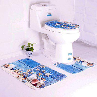 Ocean Dolphin Underwater World Toilet Mat Set 3pcs