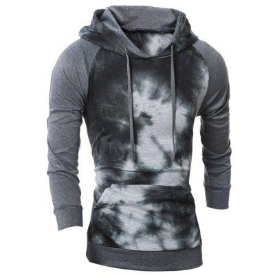 5156 P45 Autumn and Winter Models Men's Color Matching Gradient Hoodie