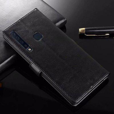 ASLING Mobile Phone Protective Case with Stand Wallet Credit Card Slot for Samsung A9