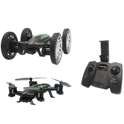 REH92602HW1 2 in 1 Land / Air WiFi FPV Dual-speed High-speed RC Car / Drone Image