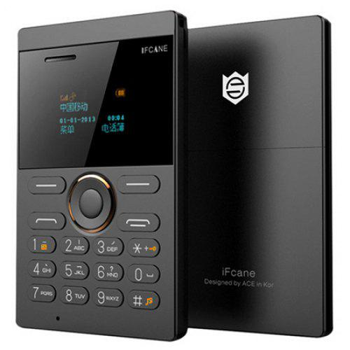 iFcane E1 Quad Band Unlocked Mini Card Phone - BLACK