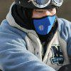 Outdoor Face Mask CS Nakrycie głowy Bib Hat Winter Windproof Cold Warm Electric Motorcycle Riding Mask - NIEBIESKI