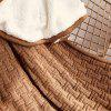 Autumn Winter Nordic Style Thick Solid Color Knitted Velvet Blanket - RUST