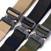 Stylish Multi-function Nylon Outdoor Training Belt 115cm - BLACK