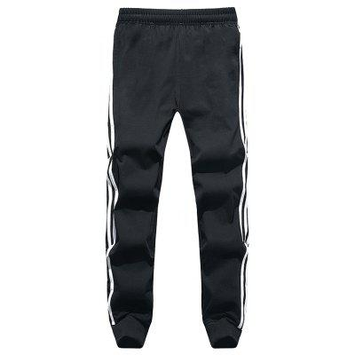 6237 - A446 Autumn Winter Three Bars Cotton Casual Sports Pants for Men