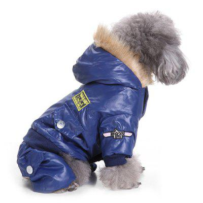 Air Force Suits Four-legged Winter Pet Dog Clothes