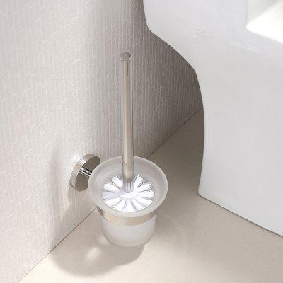 BATHINF Silver Glossy 304 Stainless Steel Bathroom Accessories Toilet Brush Cup
