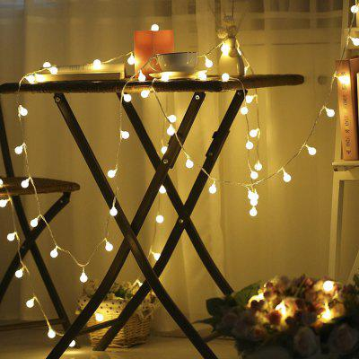 Kwb Led Christmas String Light 2M 20 bolas Warm White / Rgb Outdoor con caja de batería