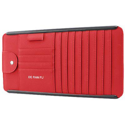 Multi-function Card Business Holder Car CD Storage Box Glasses Clip