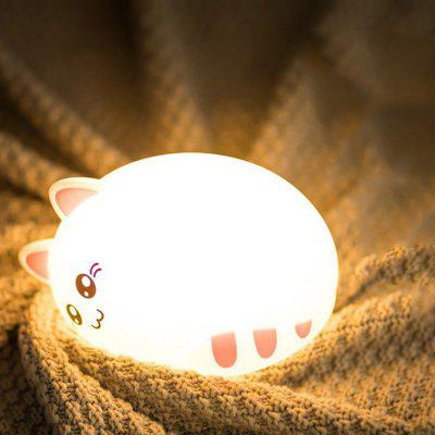 USB Charging Patted Sleeping Cat Silicone Light