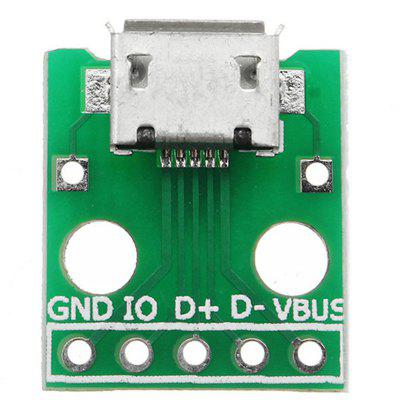 Micro USB to Dip Female Socket B Type Microphone 5P Patch to Dip 2.54mm Pin with Soldering Adapter Board