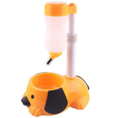 Removable Lifting Pet Dog Automatic Drinking Fountain Feeding Plate