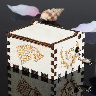 Creative Wooden Classical Engraving Hand-cranked Music Box