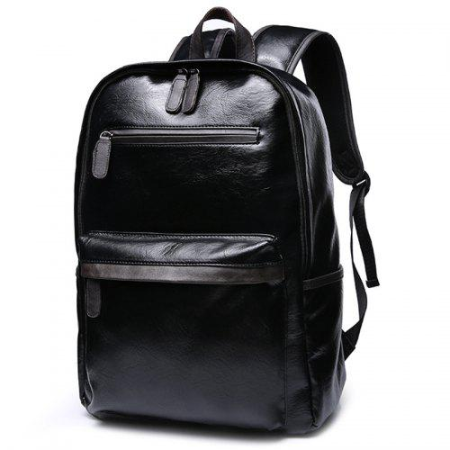 Casual Backpack Men s Student Leather Fashion Trend Sports Travel Computer  Bag -  26.43 Free Shipping e1243e37fe418