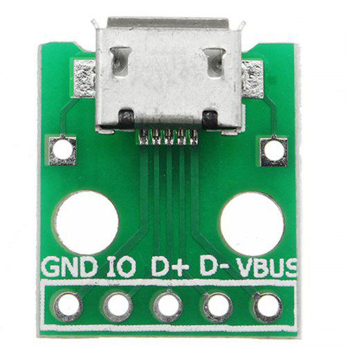 Image result for Female MICRO USB to DIP 5-Pin Breadboard Power Supply