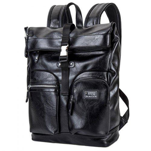 Backpack Men s Multi-function PU Leather Computer Spring Multi-layer Travel  Bag 19cb110664
