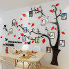 221 Photo Frame Tree Acrylic Stereo Wall Sticker - RED