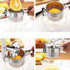 Large Stainless Steel Manual Vegetable And Fruit Juicer Potato Masher - SILVER
