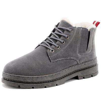 H666 Autumn Winter New Cotton Boots Plus Men's Boots