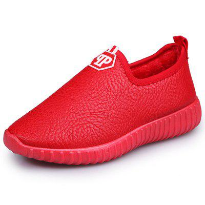 1605 Leather Women's Lok Fu Cotton Shoes