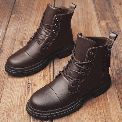 Men Stylish Warmth Wear-resistant High-top Boots