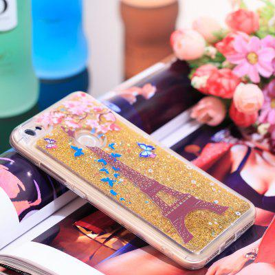 TPU Full Soft Anti-fall Quicksand Transparent Tower Mobile Phone Case for Xiaomi Redmi Note 5A
