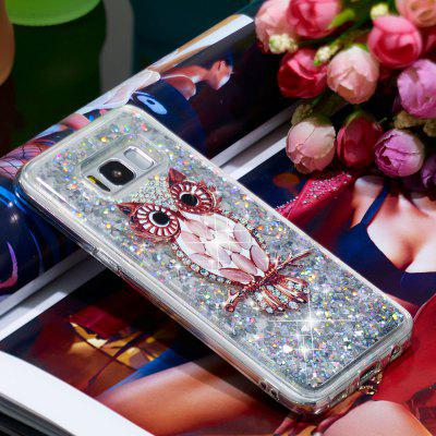 TPU Full Soft Anti-fall Quicksand Transparent Owl Mobile Phone Case for Samsung Galaxy S8 Plus