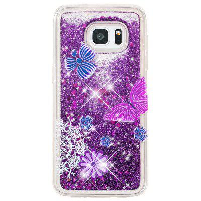 TPU Full Soft Anti-fall Sand Transparent Mobile Phone Case for Samsung Galaxy S7
