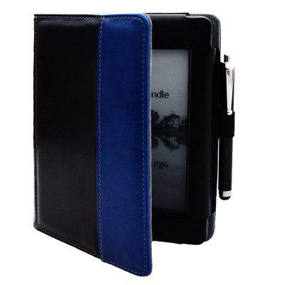 6 inch Two-color Leather Case with Pen for Kindle Touch