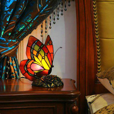Drunk Butterfly Night Light Mirror Front Glass Lamp