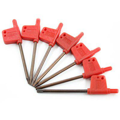 Red Plastic Flag Type Torx Key Screwdriver