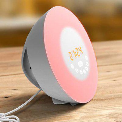 Natural Wake-up Light LED Multi-function Touch Colorful Alarm Clock