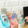 Multifunctional Plastic Stationery Cosmetic Desktop Storage Box - SAKURA PINK