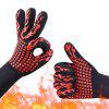 Red Torch Aramid 500 / 800 Deg.C Barbecue Oven High Temperature Glove - BEAN RED
