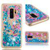 TPU Full Soft Anti-falling Quicksand Transparent Cherry Blossom Mobile Phone Case for Samsung Galaxy S9 - BLUEBERRY BLUE