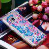 TPU Full Soft Anti-fall Quicksand Transparent Cherry Blossom Mobile Phone Case for Samsung Galaxy S8 - DODGER BLUE