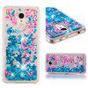 TPU Full Soft Anti-fall Quicksand Transparent Cherry Blossom Mobile Phone Case for Xiaomi Redmi 5 - BLUEBERRY BLUE