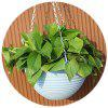 Large Blue Balcony Potted Resin Hanging Orchid Flower Pot With Iron Chain Hook - DENIM BLUE